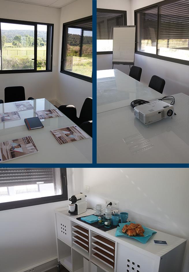 salle de réunion, video projecteur, petit déjeuner
